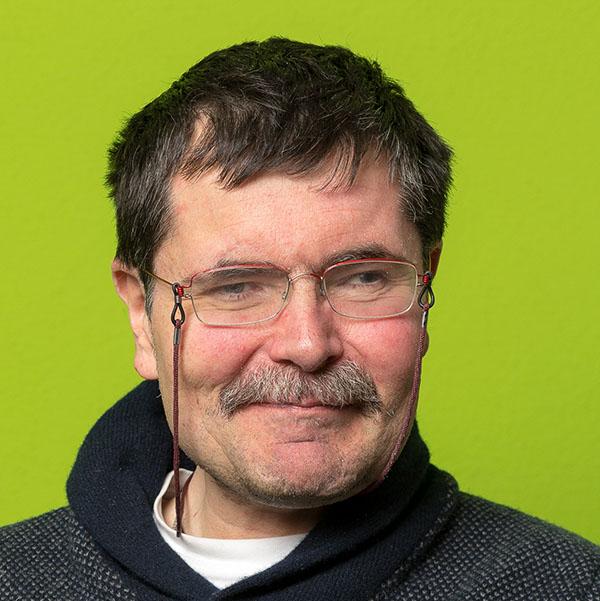 Günther, ein Klient des Vereins WIR
