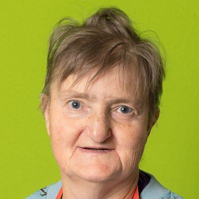 Helga, eine Klientin des Vereins WIR