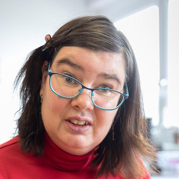Rosetta, eine Klientin des Vereins WIR