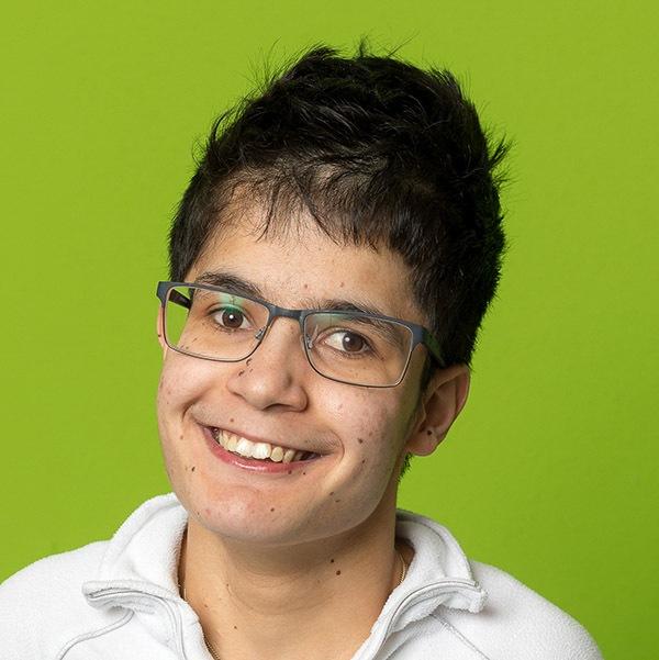 Veronika, eine Klientin des Vereins WIR